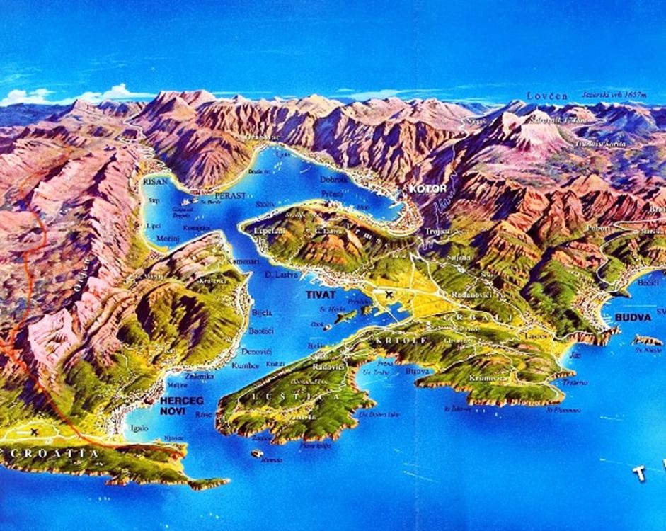 מפה מפרץ קוטור