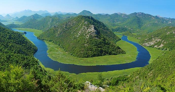 תצפית על אגם סקאדר בדרך לפודגוריצה